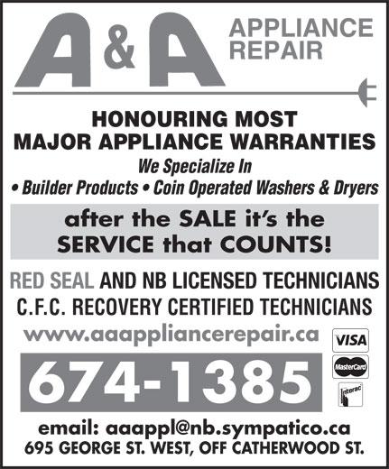 Ads A&A Appliance Repair