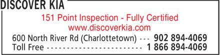 Discover Kia (902-894-4069) - Display Ad -