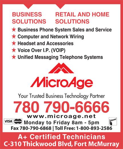 MicroAge (780-790-6666) - Display Ad -