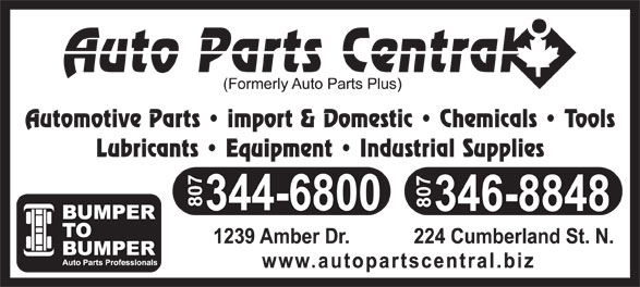 Auto Parts Central (807-344-6800) - Display Ad -