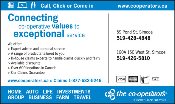 The Co-operators (1-877-682-5246) - Display Ad -