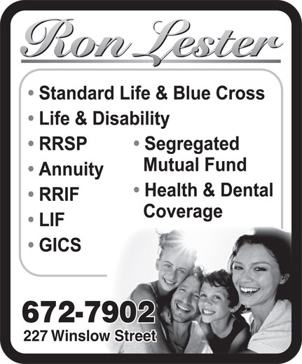 Ron Lester (506-672-7902) - Display Ad - 672-7902 227 Winslow Street