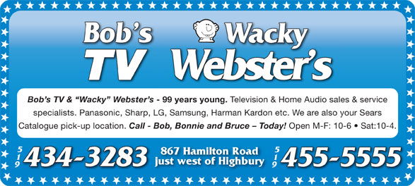 Ads Wacky Webster's TV & Home Audio