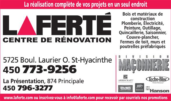 Laferté (450-773-9256) - Display Ad -