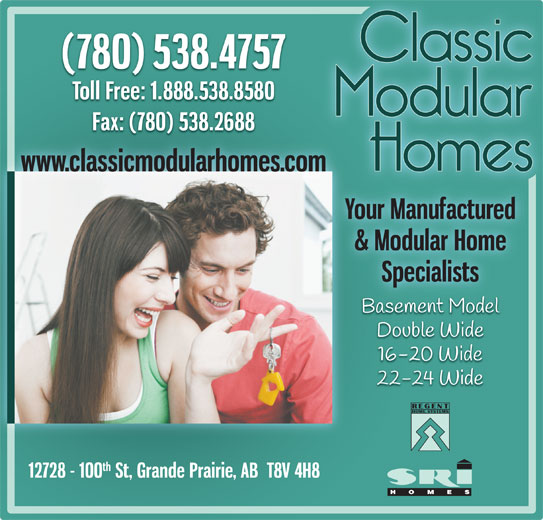 Classic Modular Homes (780-538-4757) - Display Ad -