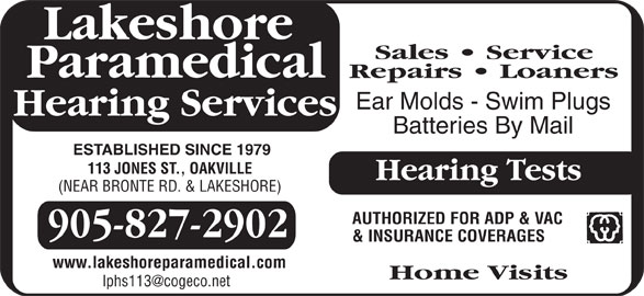 Ads Lakeshore Paramedical Hearing Services