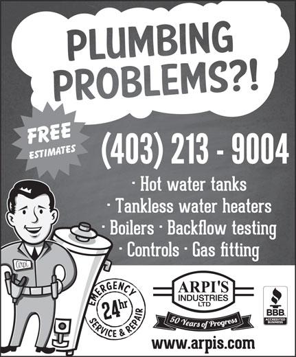 Arpi's Industries Ltd (403-236-2444) - Display Ad -