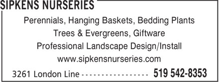 Ads Sipkens Nurseries