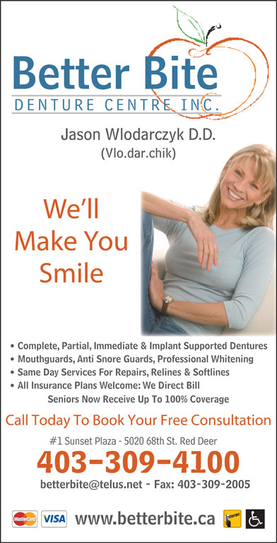 Better Bite Denture Centre Inc (403-309-4100) - Display Ad - Better Bite