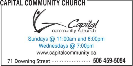 Capital Community Church (506-459-5054) - Display Ad - www.capitalcommunity.ca