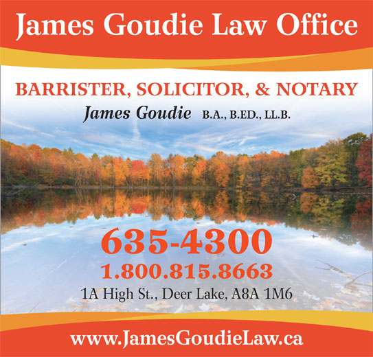 Goudie Law Office (709-635-4300) - Annonce illustrée======= -