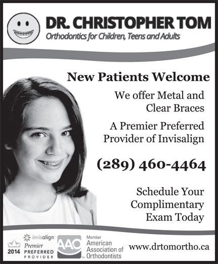 Dr Christopher H Tom (905-839-1268) - Display Ad -