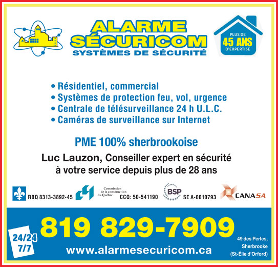 alarme s curicom inc sherbrooke qc 49 rue des perles canpages fr. Black Bedroom Furniture Sets. Home Design Ideas