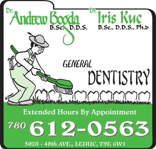 Bogda Andrew Dr (780-986-1323) - Display Ad - 780 612-0563 GENERAL Extended Hours By AppointmentExtended Hours By Appointment