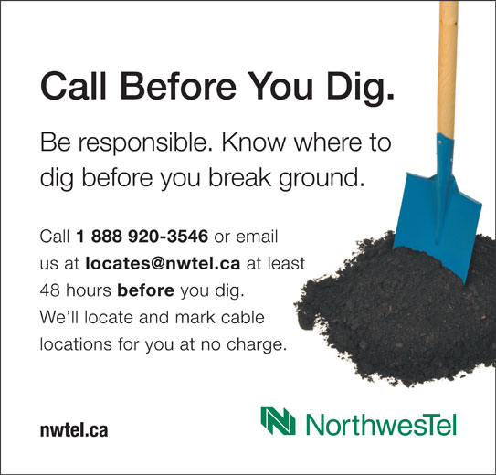 Call Before You Dig (1-844-297-7313) - Display Ad -