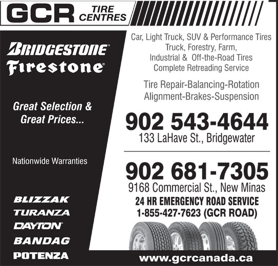 GCR Tire Centres (902-543-4644) - Display Ad -