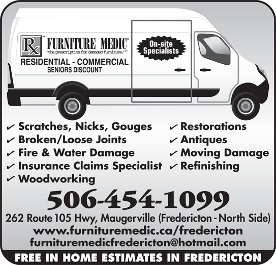 Furniture Medic 262 Route 105 Maugerville Nb