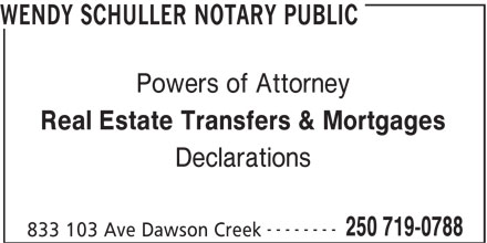 Ads Wendy Schuller Notary Public