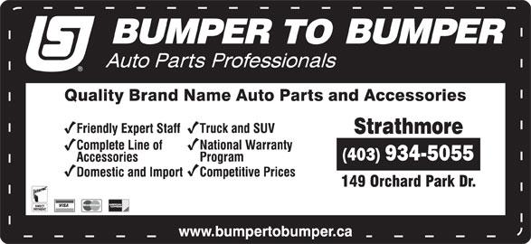 Bumper To Bumper (403-934-5055) - Annonce illustrée======= -