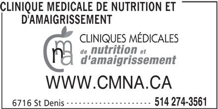 Dr Jean-Marie Marineau (514-274-3561) - Display Ad -