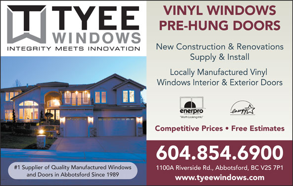 Tyee Mfg (604-854-6900) - Display Ad -