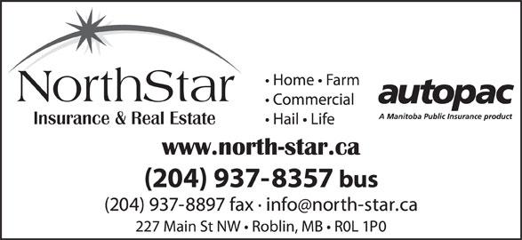 NorthStar Insurance & Real Estate (204-937-8357) - Display Ad - NorthStar
