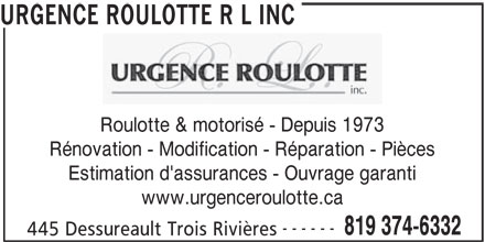 Ads Urgence Roulotte R L Inc