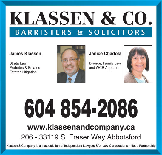 Ads James J Klassen Law Corp
