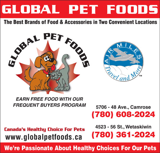Global Pet Foods (780-608-2024) - Annonce illustrée======= -