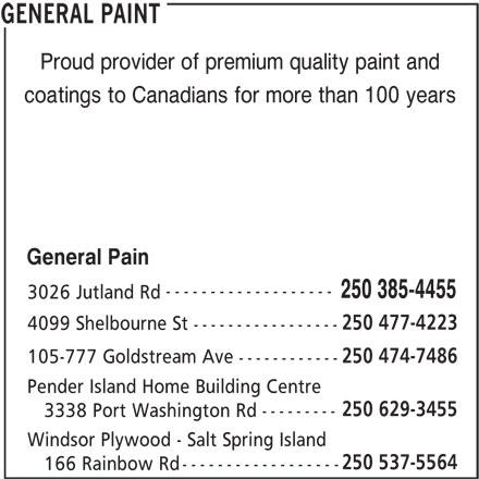 General Paint (250-385-4455) - Display Ad -