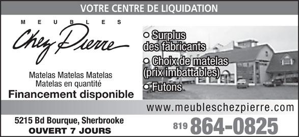 meubles chez pierre 5215 boul bourque sherbrooke qc. Black Bedroom Furniture Sets. Home Design Ideas