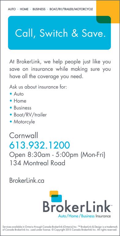 BrokerLink (613-932-1200) - Display Ad -