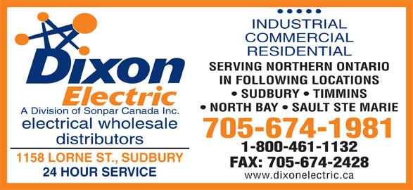 Dixon Electric 1158 Lorne St Sudbury On