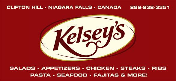 Kelsey's (905-353-0051) - Annonce illustrée======= - 289-932-3351