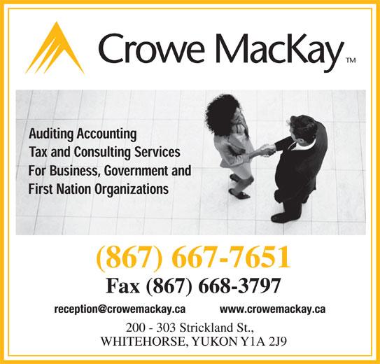 Crowe MacKay LLP (867-667-7651) - Display Ad -