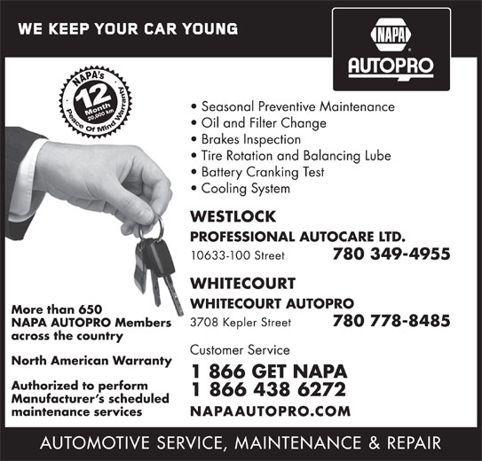 NAPA Autopro (1-866-438-6272) - Display Ad -