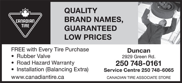 Canadian Tire Associate Store (250-748-0161) - Display Ad -