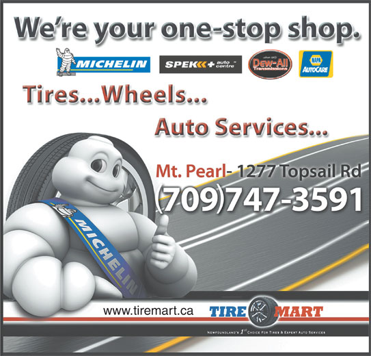 Tire Mart (709-747-3591) - Display Ad - www.tiremart.ca