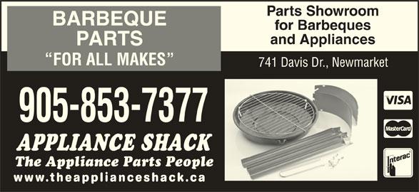 The Appliance Shack (905-853-7377) - Annonce illustrée======= -