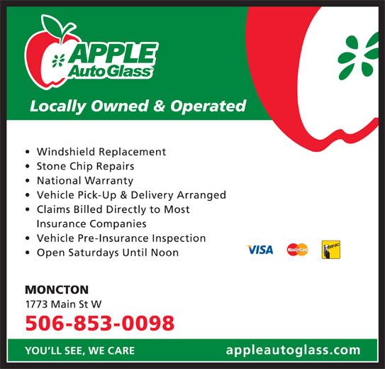 Apple Auto Glass (506-853-0098) - Display Ad -