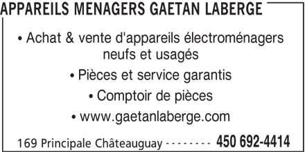 Appareils m nagers ga tan laberge ch teauguay qc 169 for Electromenager chateauguay