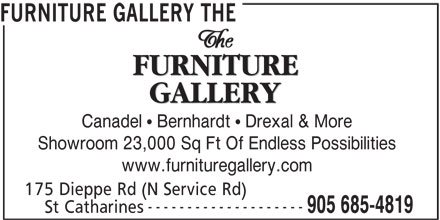 The Furniture Gallery (905-685-4819) - Annonce illustrée======= -