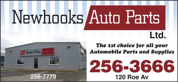 Newhooks Auto Parts (1977) Ltd (709-256-7779) - Display Ad - Ltd. 256-3666 256-7779 120 Roe Av