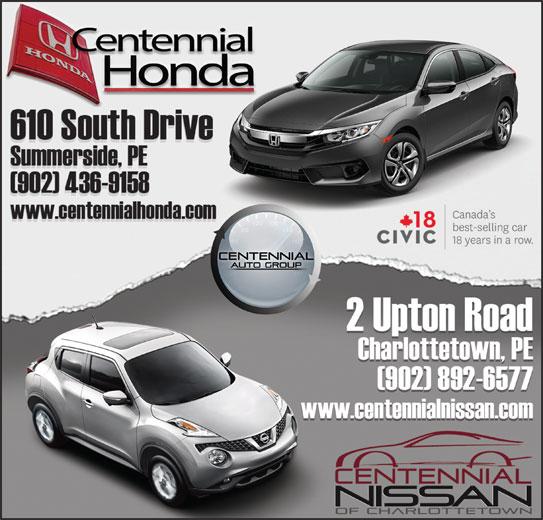 Centennial Honda (902-436-9158) - Display Ad -