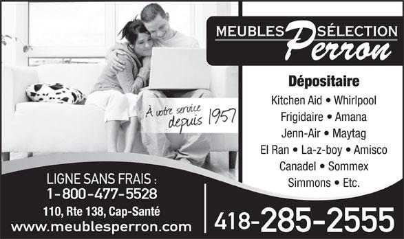 Meubles s lection perron cap sant qc 110 138 rte rr for Meuble jaymar montreal