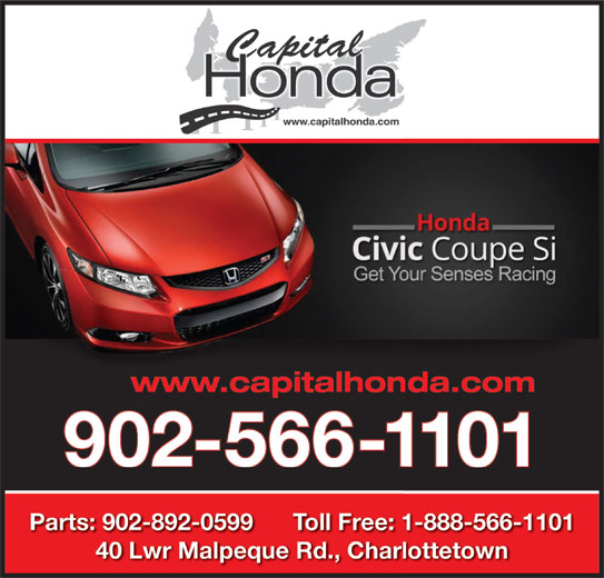 Capital Honda (902-566-1101) - Display Ad -