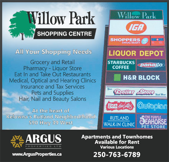 Ads Willow Park Shopping Centre
