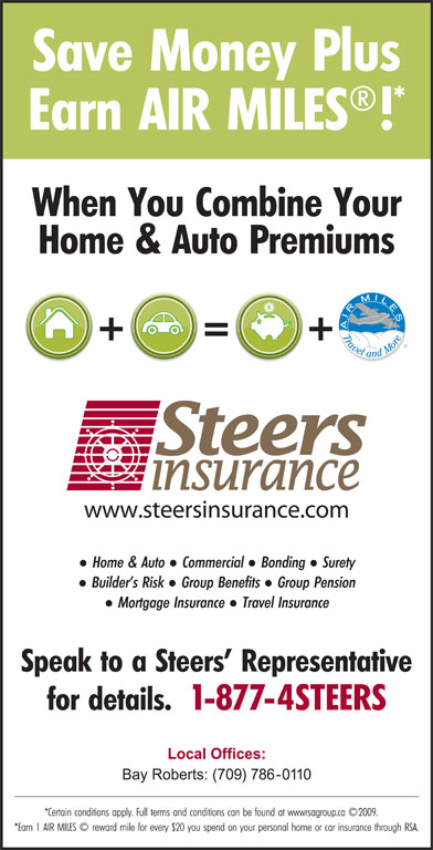 Steers Insurance Limited (709-489-4303) - Display Ad -