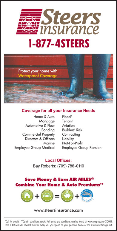 Steers Insurance Limited (709-786-0110) - Display Ad -