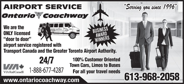 Ads Airport Shuttle Services by Ontario Coachway